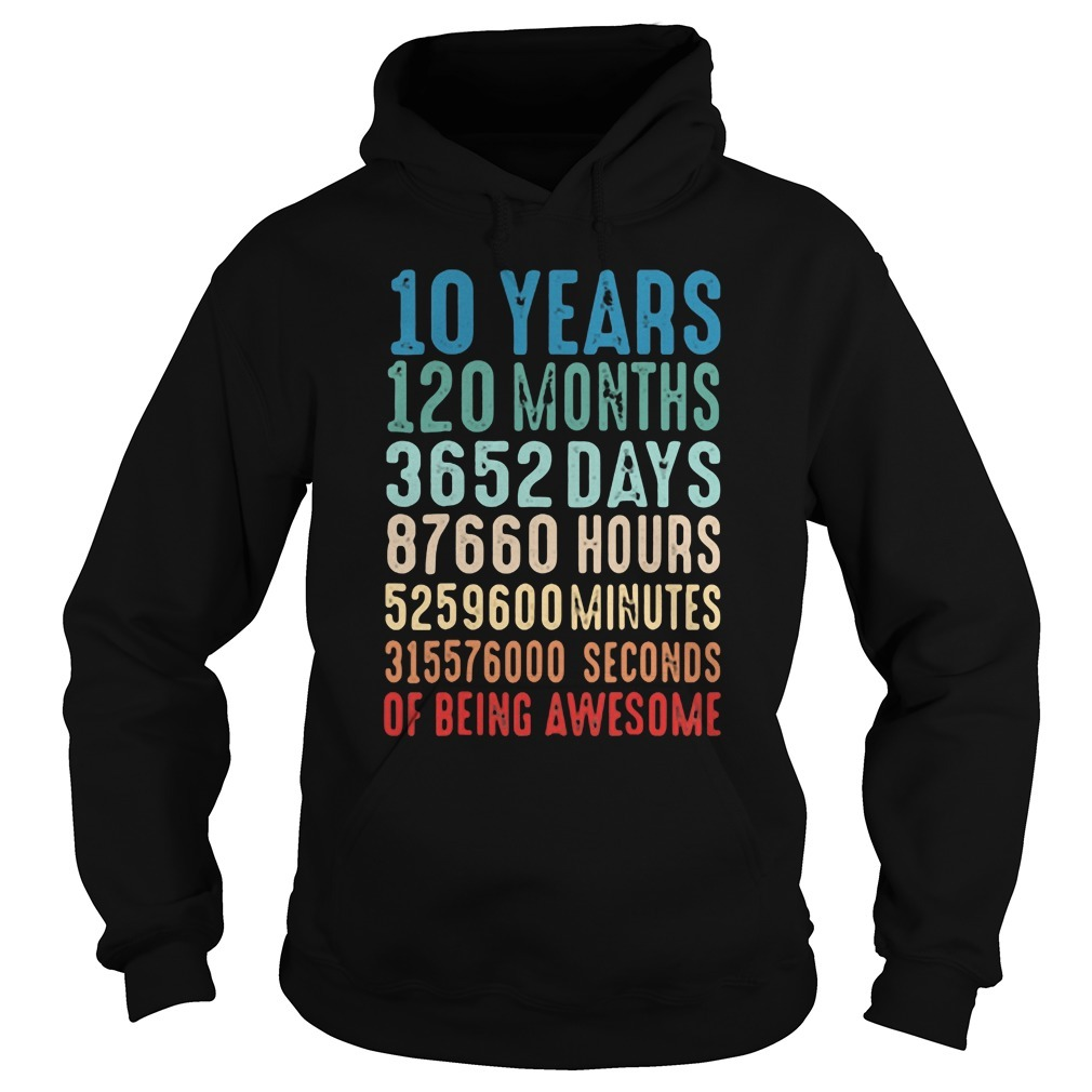 10 Years Old 10th Birthday Vintage Retro Hoodie
