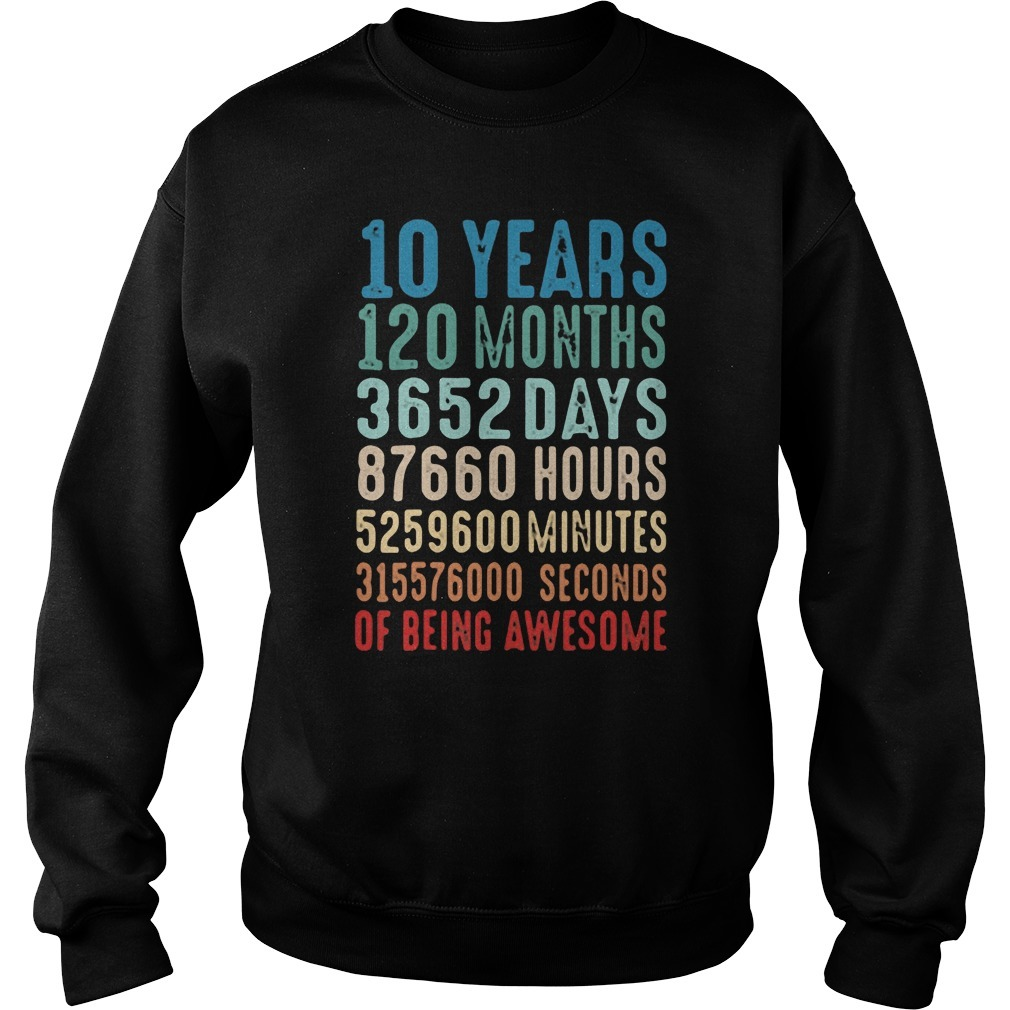 10 Years Old 10th Birthday Vintage Retro Sweater