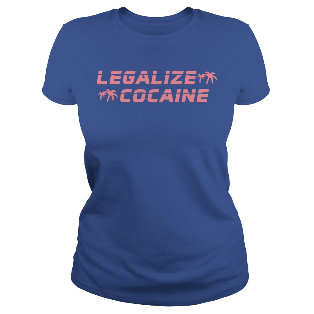Grand Valley State Police Event Legalize Cocaine Ladies Shirt