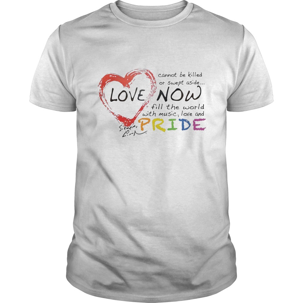 Lin Manuel Miranda Love Cannot Be Killed Or Swept Aside Now Fill The World With Music Love And Pride Shirt