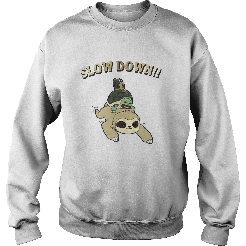 Sloth Turtle And Snail Slow Down Kid Sweater