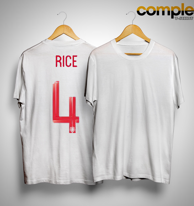 England Home Declan Rice 4 Shirt