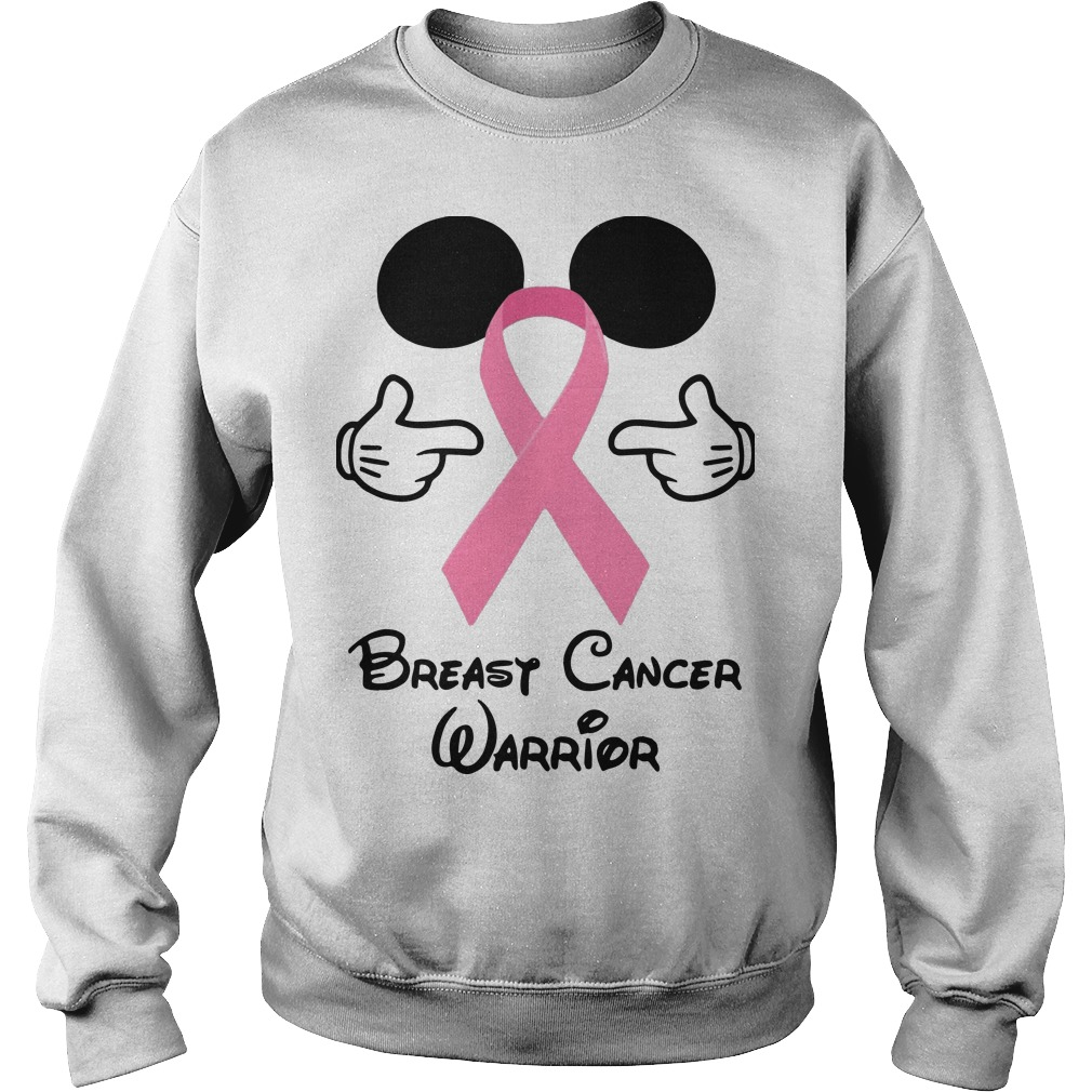 Mickey Mouse Breast Cancer Warrior Sweater