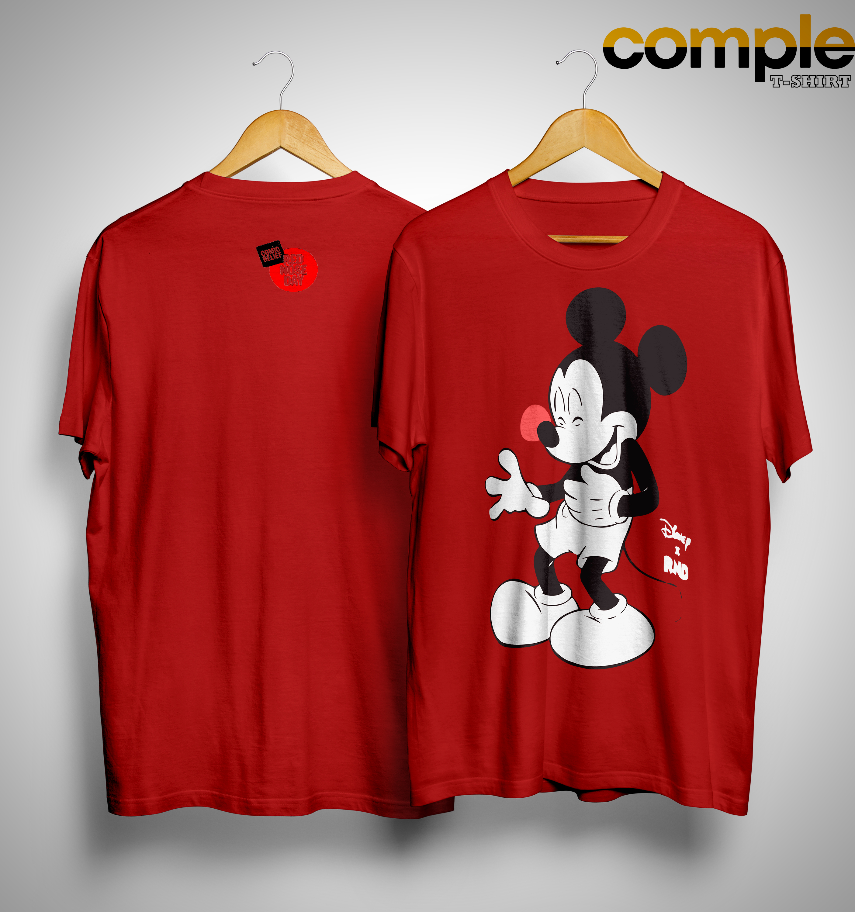 Red Nose Day Mickey Mouse Shirt 2019