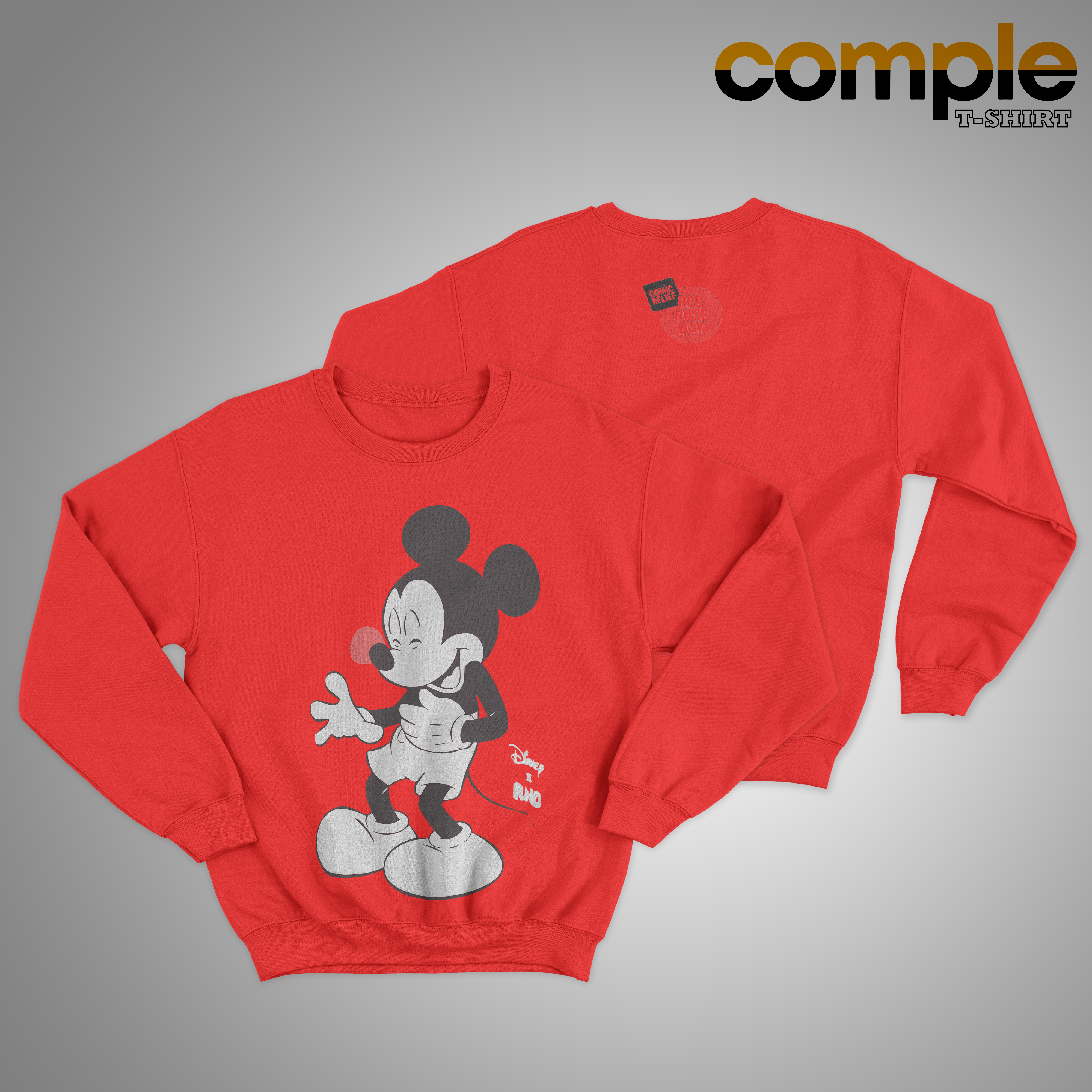 Red Nose Day Mickey Mouse Sweater 2019