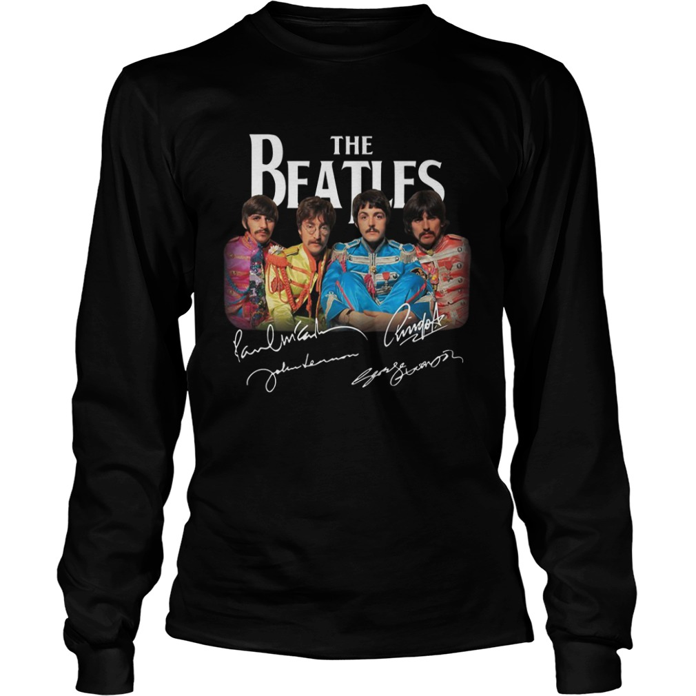 Sgt. Pepper's Lonely Hearts Club Band The Beatles Signature Longsleeve Tee