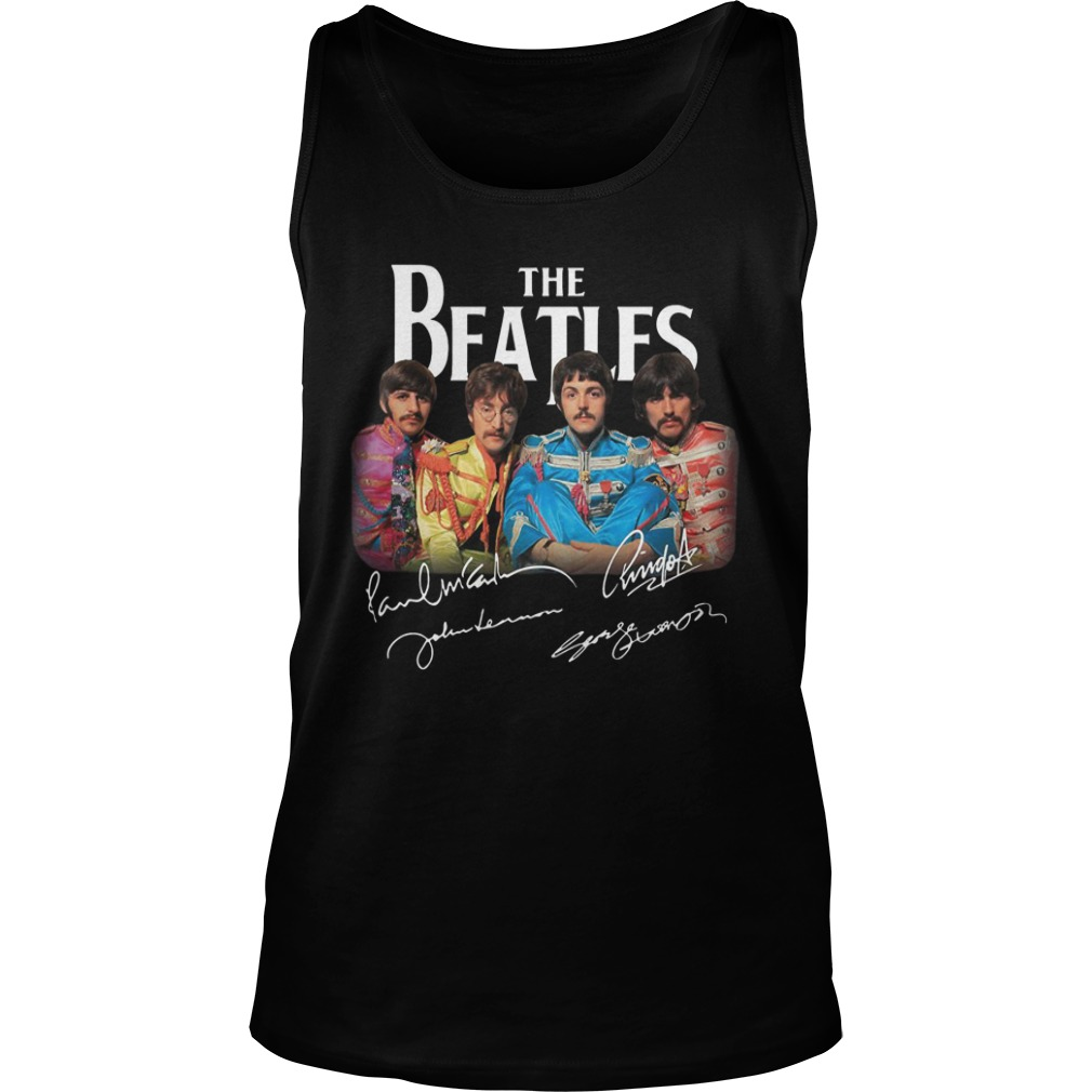 Sgt. Pepper's Lonely Hearts Club Band The Beatles Signature Tank Top
