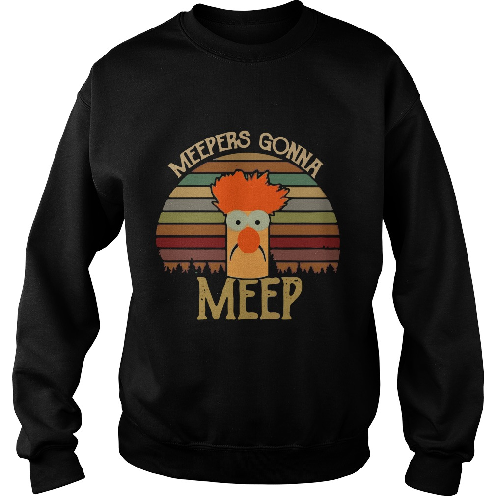 The Muppet Show Beaker Meepers Gonna Meep Sunset Sweater
