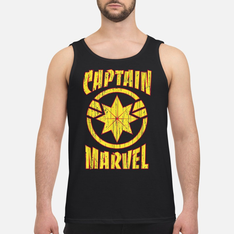 Marvel Captain Marvel Distressed 90s Logo Shirt