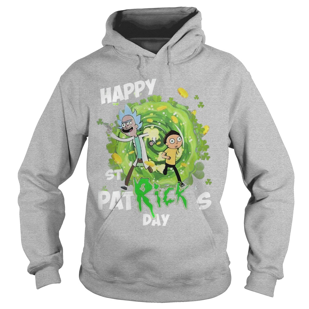 Rick And Morty Happy St Patrick's Day Hoodie