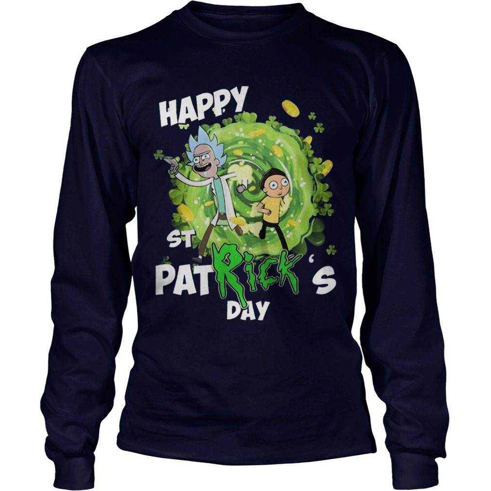 Rick And Morty Happy St Patrick's Day Longsleeve Tee