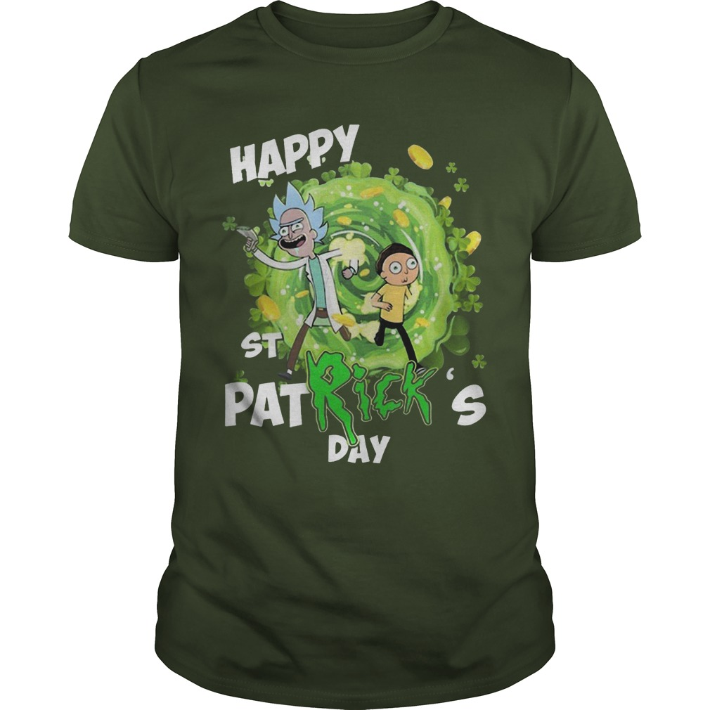 Rick And Morty Happy St Patrick's Day Shirt