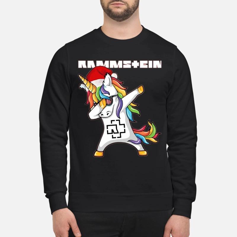 Santa Unicorn Dabbing Rammstein Sweater