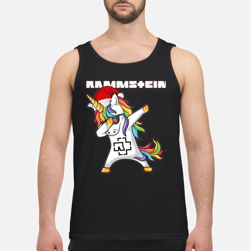 Santa Unicorn Dabbing Rammstein Tank Top