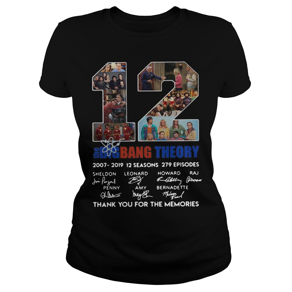 12 Years The Big Bang Theory Thank You For The Memories Ladies Shirt
