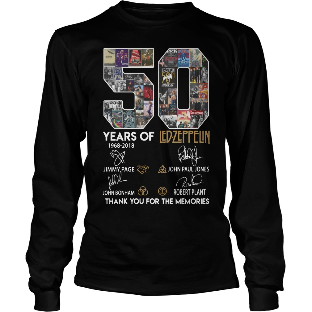 50 Years Of Led Zeppelin Thank You For The Memories Shirt
