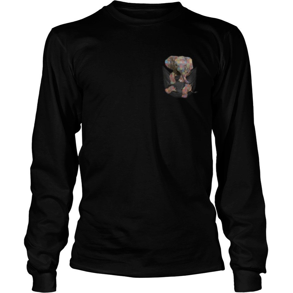 Autism Baby Elephant In The Pocket Shirt