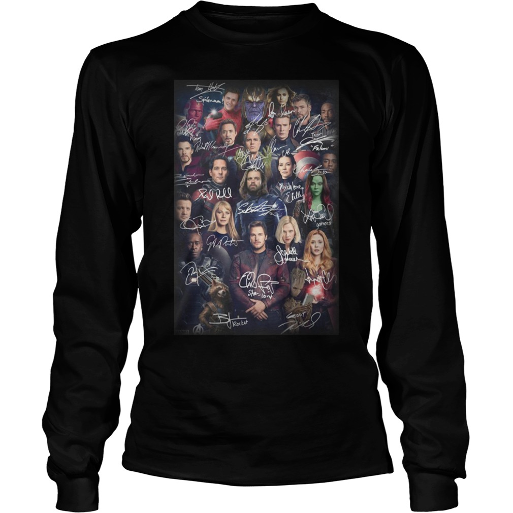 Avengers Endgame Poster All Heroes Signatures Shirt
