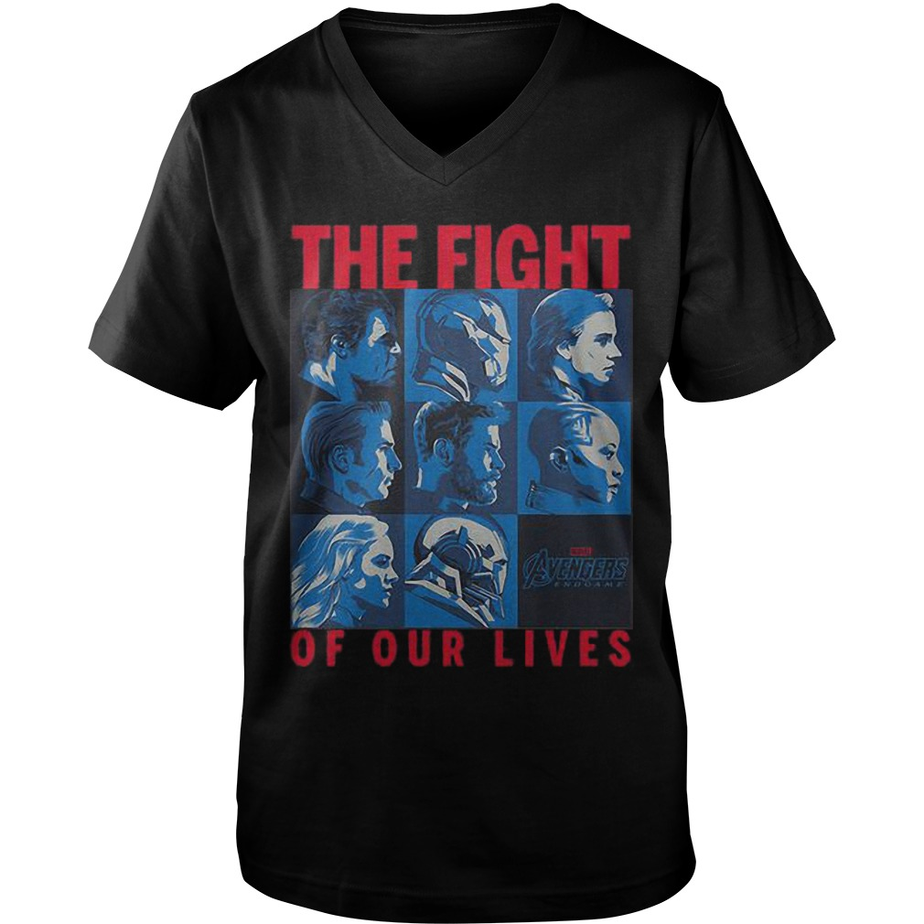 Avengers Endgame The Fight Of Our Lives Guys V Neck Shirt