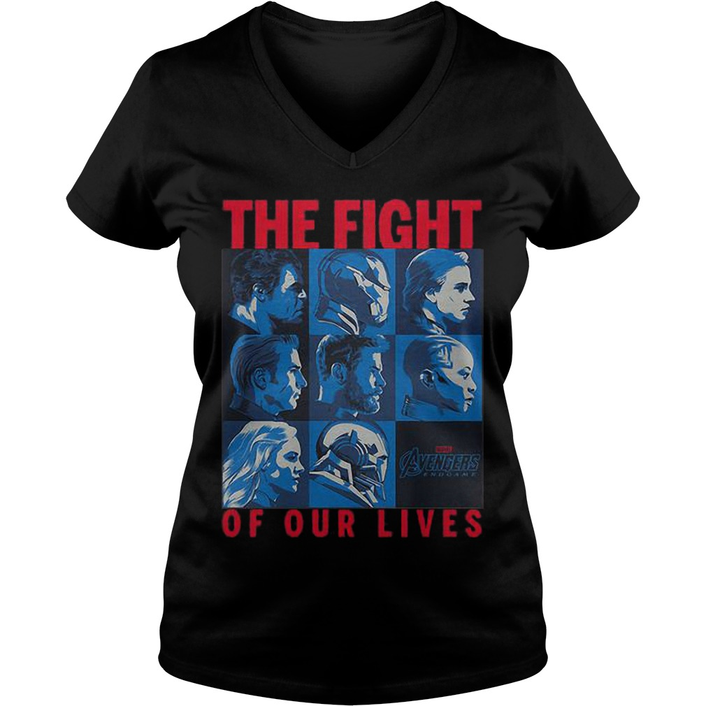 Avengers Endgame The Fight Of Our Lives Ladies V Neck Shirt