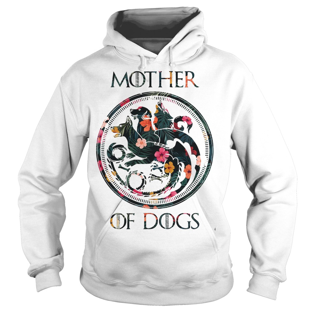 Floral Game Of Thrones Mother Of Dogs Shirt