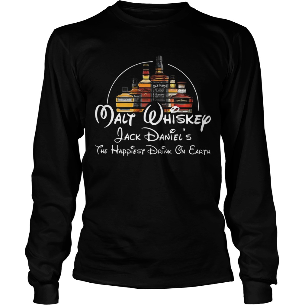 Malt Whiskey Jack Daniel's The Happiest Drink On Earth Shirt