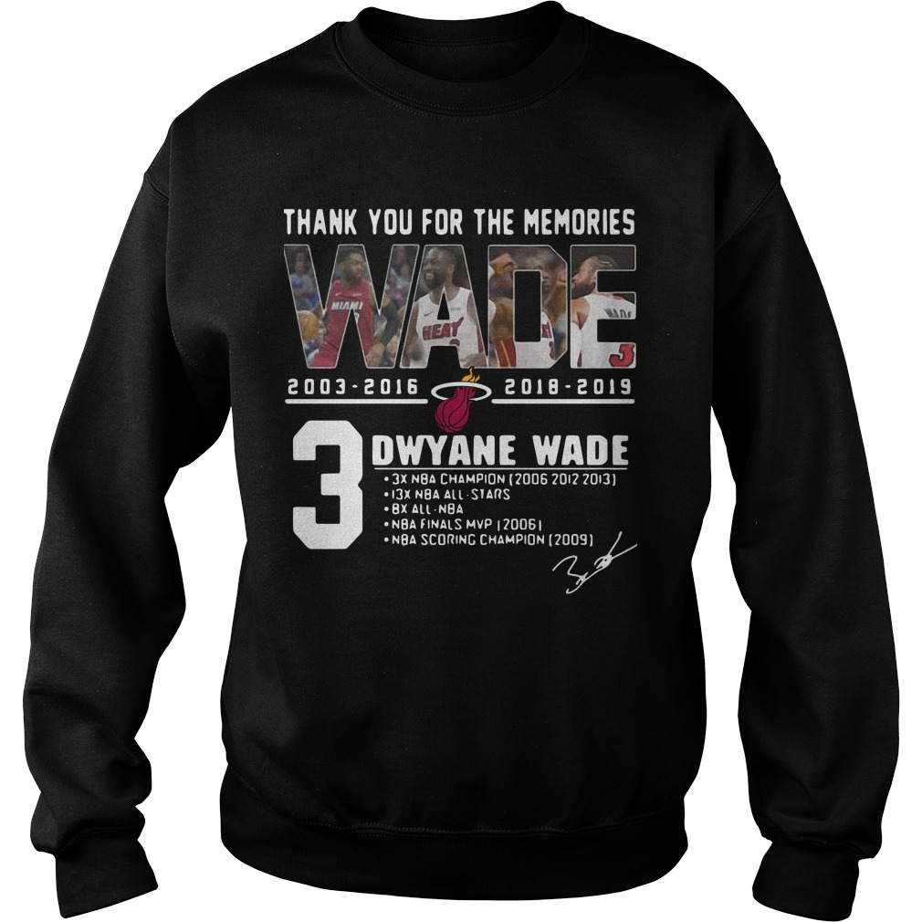 Miami Heat Thank You For The Memories 3 Dwyane Wade Shirt