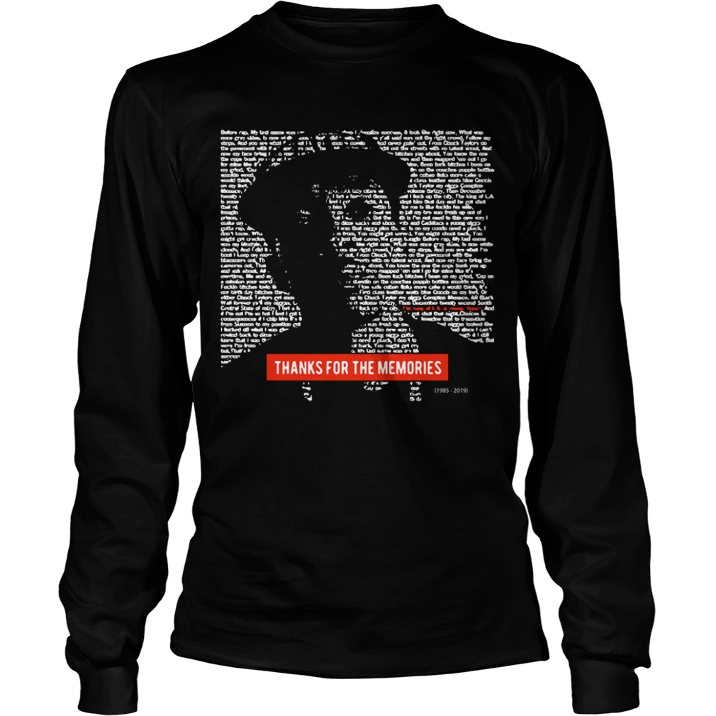 Nipsey Hussle Thanks For The Memories Shirt