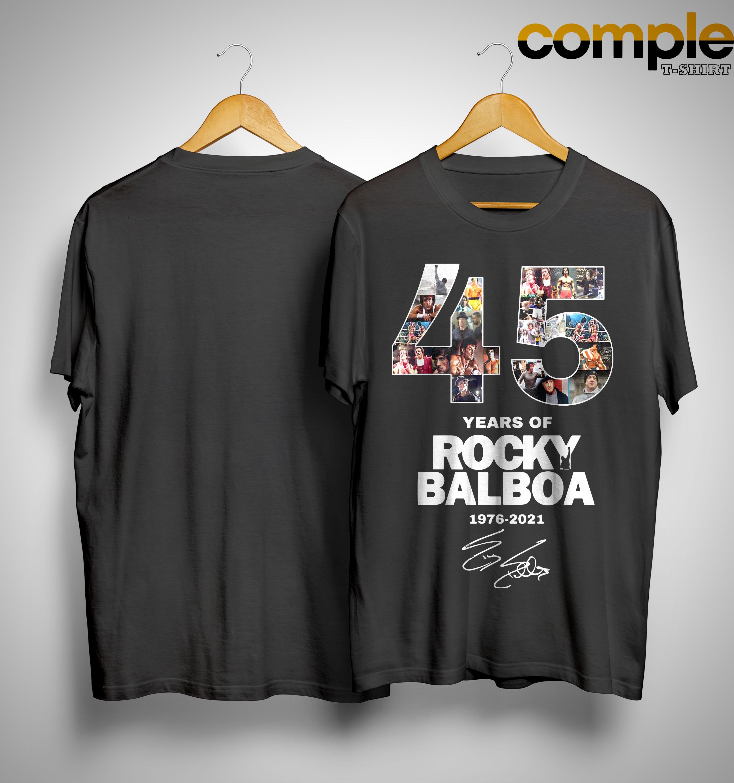 45 Years Of Rocky Balboa Shirt 1976 2021 Shirt