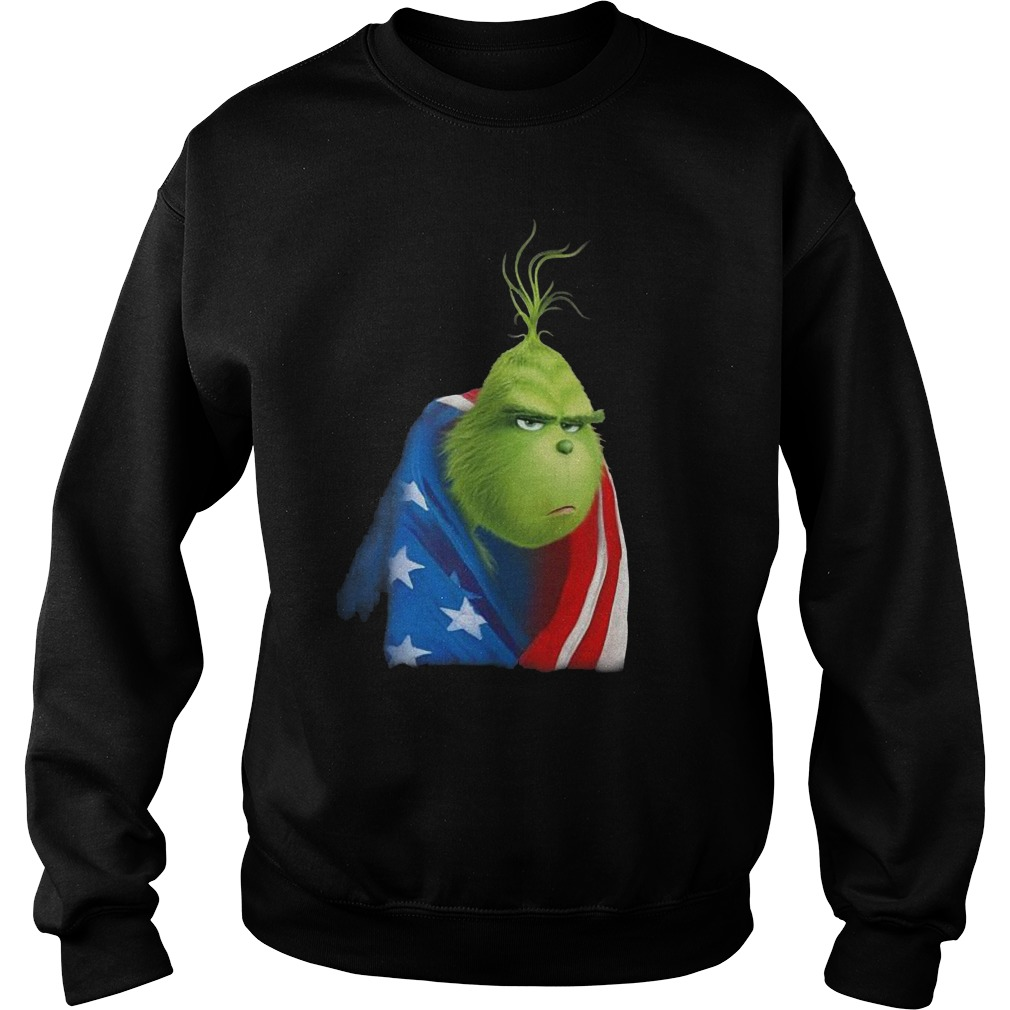 Grinch In American Flag Sweater