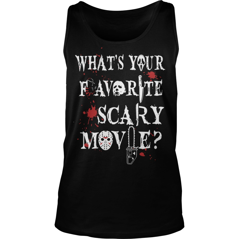 What's Your Favorite Scary Movie Tank Top