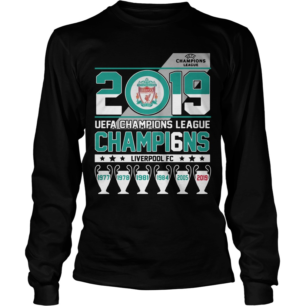 2019 Uefa Champions League Champions Liverpool Fc Longsleeve Tee