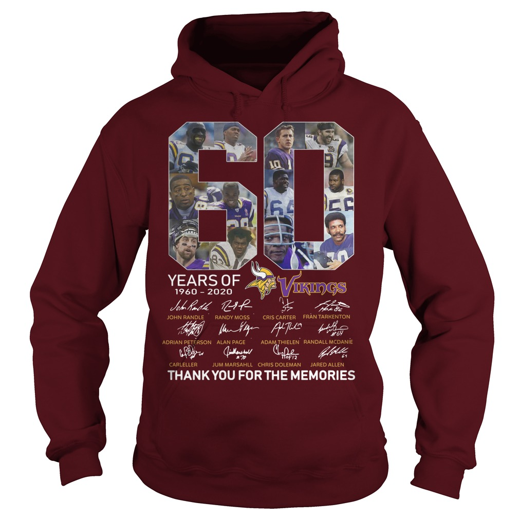 60 Years Of Vikings 1960 2020 Thank You For The Memories Hoodie