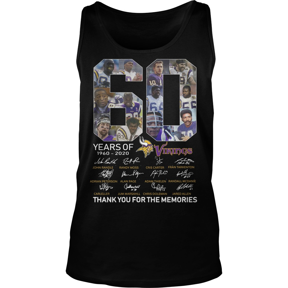 60 Years Of Vikings 1960 2020 Thank You For The Memories Tank Top