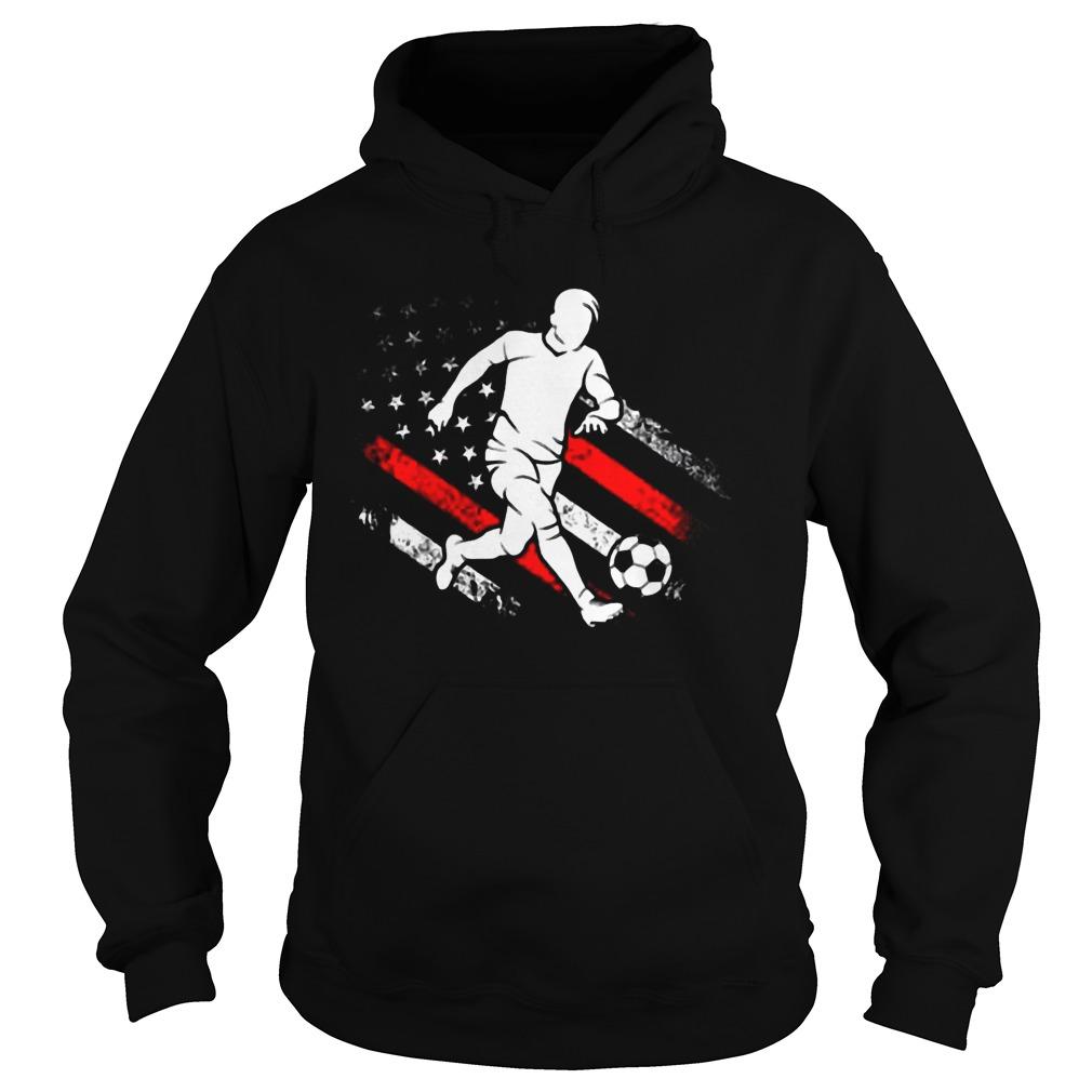 American Flag Soccer Dad Distressed Patriotic Hoodie
