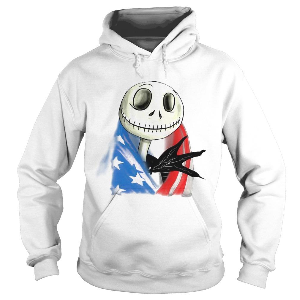 Jack Skellington American Flag Hoodie
