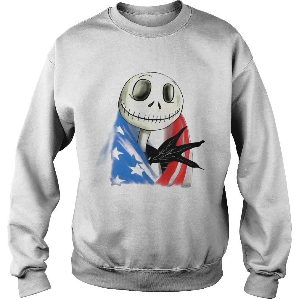 Jack Skellington American Flag Sweater
