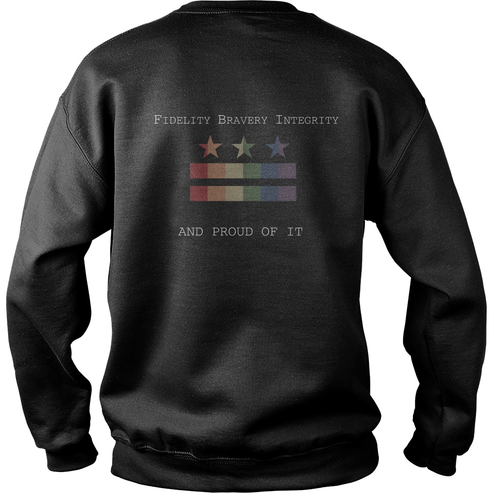 James Comey Pride Month Fidelity Bravery Integrity And Proud Of It Sweater