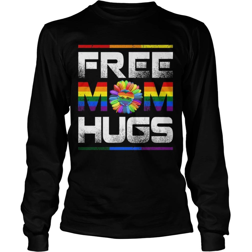 Lgbt Pride Month Free Mom Hugs Longsleeve Tee