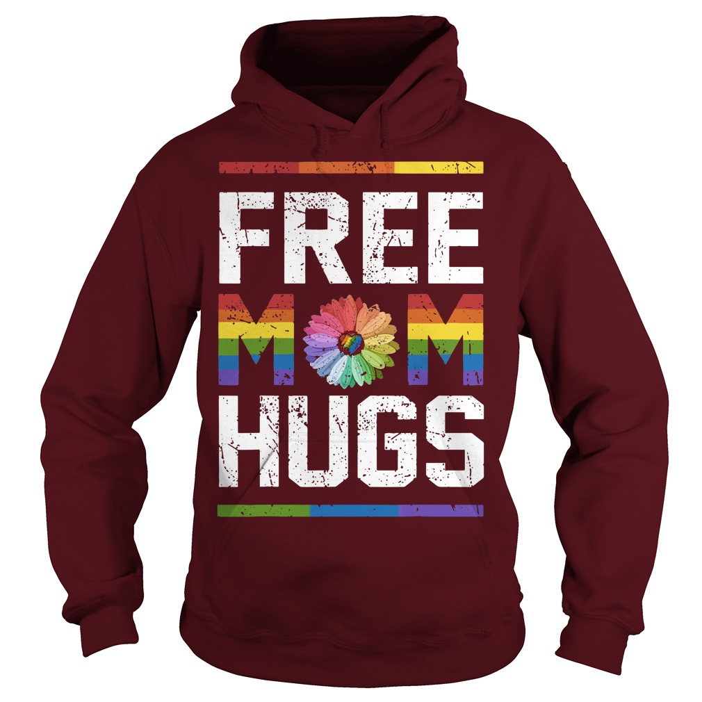 Lgbt Sunflower Free Mom Hugs Hoodie