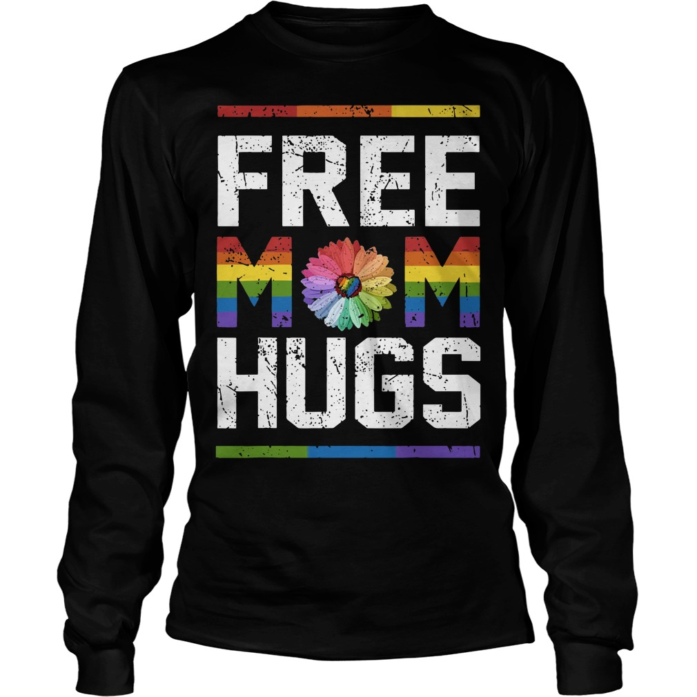 Lgbt Sunflower Free Mom Hugs Longsleeve Tee