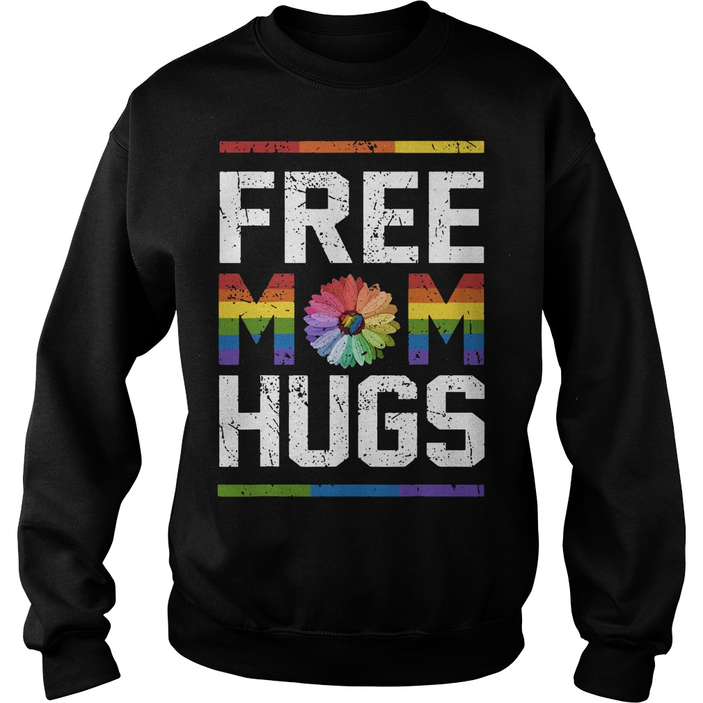 Lgbt Sunflower Free Mom Hugs Sweater
