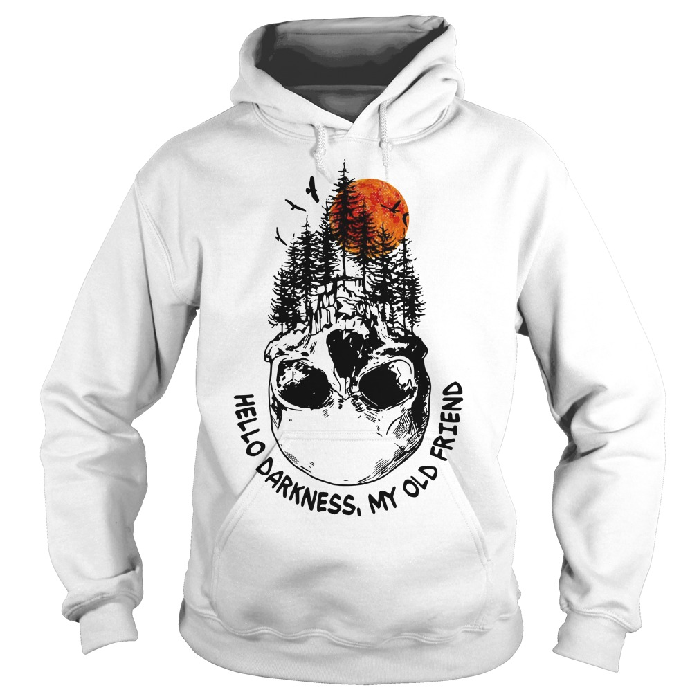 Skull Tree Sunset Hello Darkness My Old Friend Hoodie