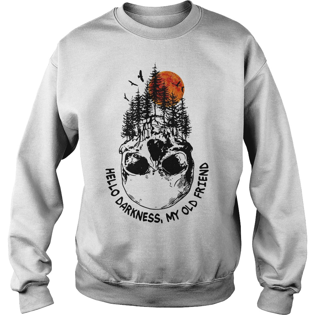 Skull Tree Sunset Hello Darkness My Old Friend Sweater
