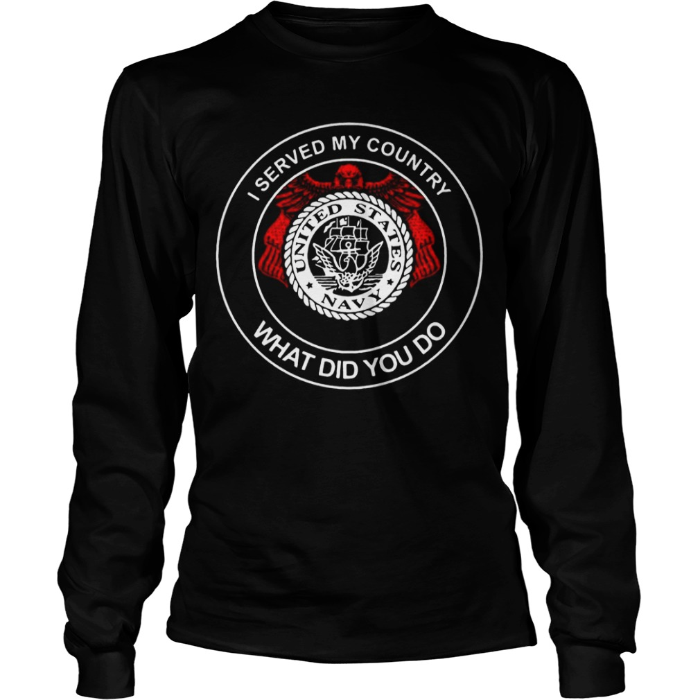 United States Navy I Served My Country What Did You Do Longsleeve Tee