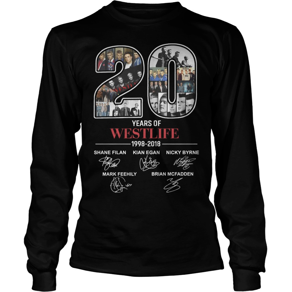 20 Years Of Westlife 1998 2018 Longsleeve Tee