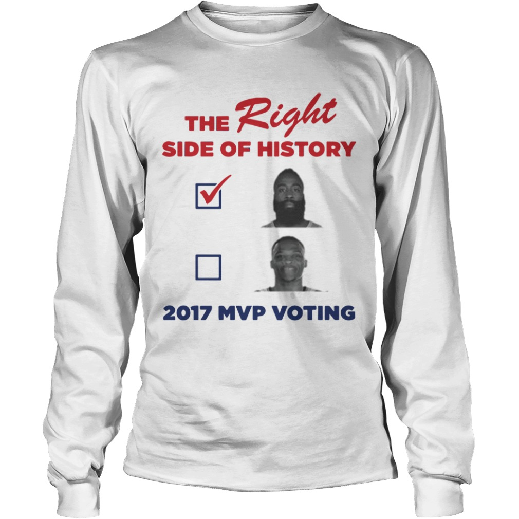 Bill Simmons The Right Side Of History 2017 Mvp Voting Longsleeve Tee