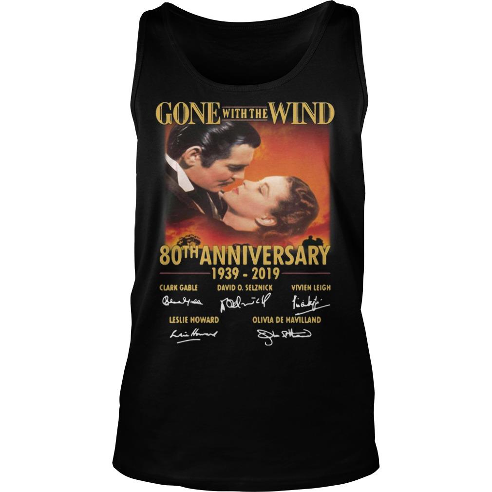 Gone With The Wind 80th Anniversary 1939 2019 Signatures Tank Top