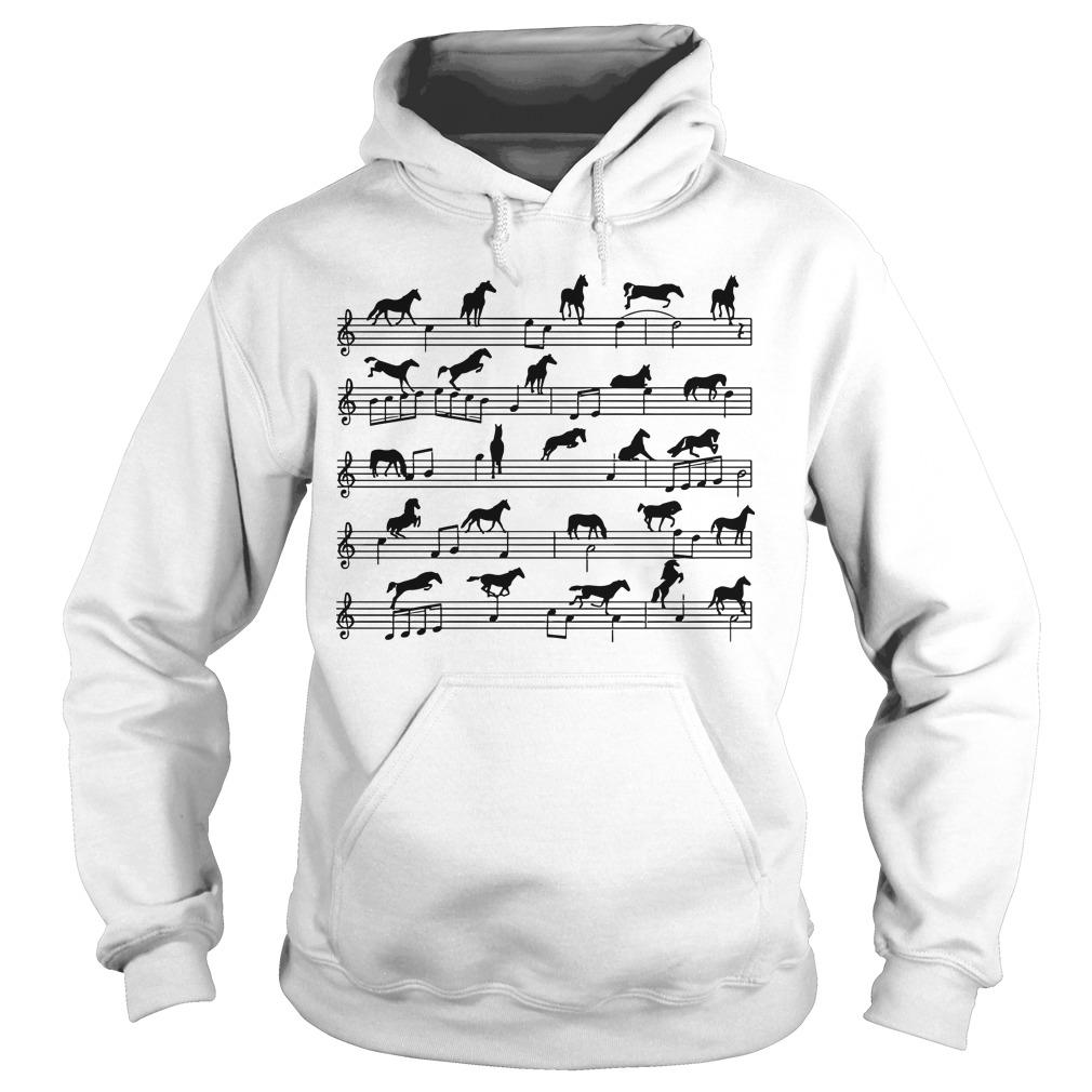 Horses Piano Sheet Hoodie