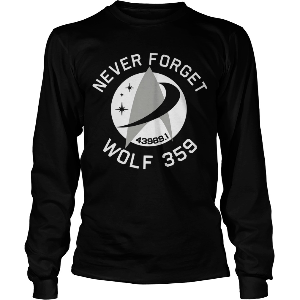 Never Forget 43989 Wolf 359 Longsleeve Tee
